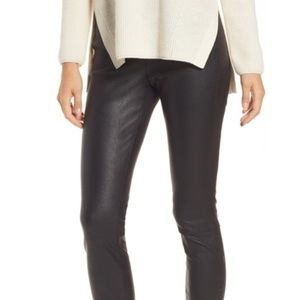 NORDSTROM Leather Stretch Skinny Pants Leggings